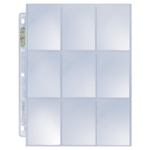 100 Ultra Pro Game Platinum 9-Pocket Sheets - image 1 of 3