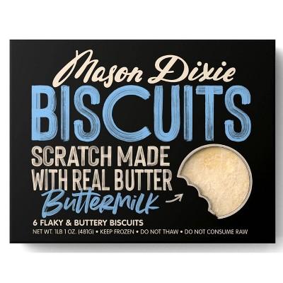 Mason Dixie Buttermilk Frozen Biscuits - 17oz/6ct