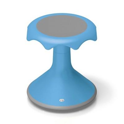 "VS America Hokki Stool Flexible Ergonomic Seatingl - 15"" Light Blue"