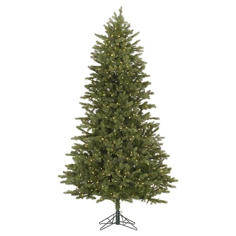 7.5ft Pre-Lit LED Artificial Christmas Tree Full White Flocked - Clear Lights - image 1 of 1