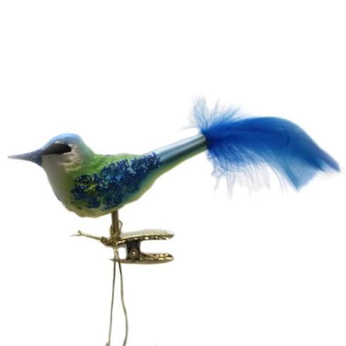 Inge Glas 1 5 Bluetit Bird Clip On Ornament Tree Ornaments Target