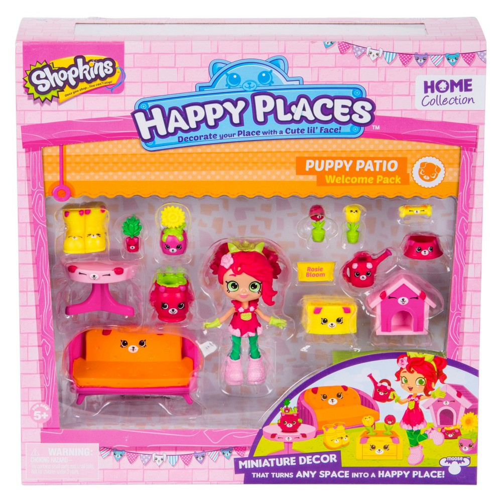 Happy Places Shopkins Welcome Pack - Puppy Patio