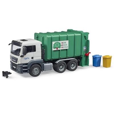 Bruder Man TGS Rear Loading Garbage Truck, Green