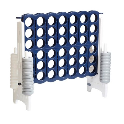 ECR4Kids Jumbo Four-To-Score Giant Game-Indoor/Outdoor 4-In-A-Row Connect - Navy and White