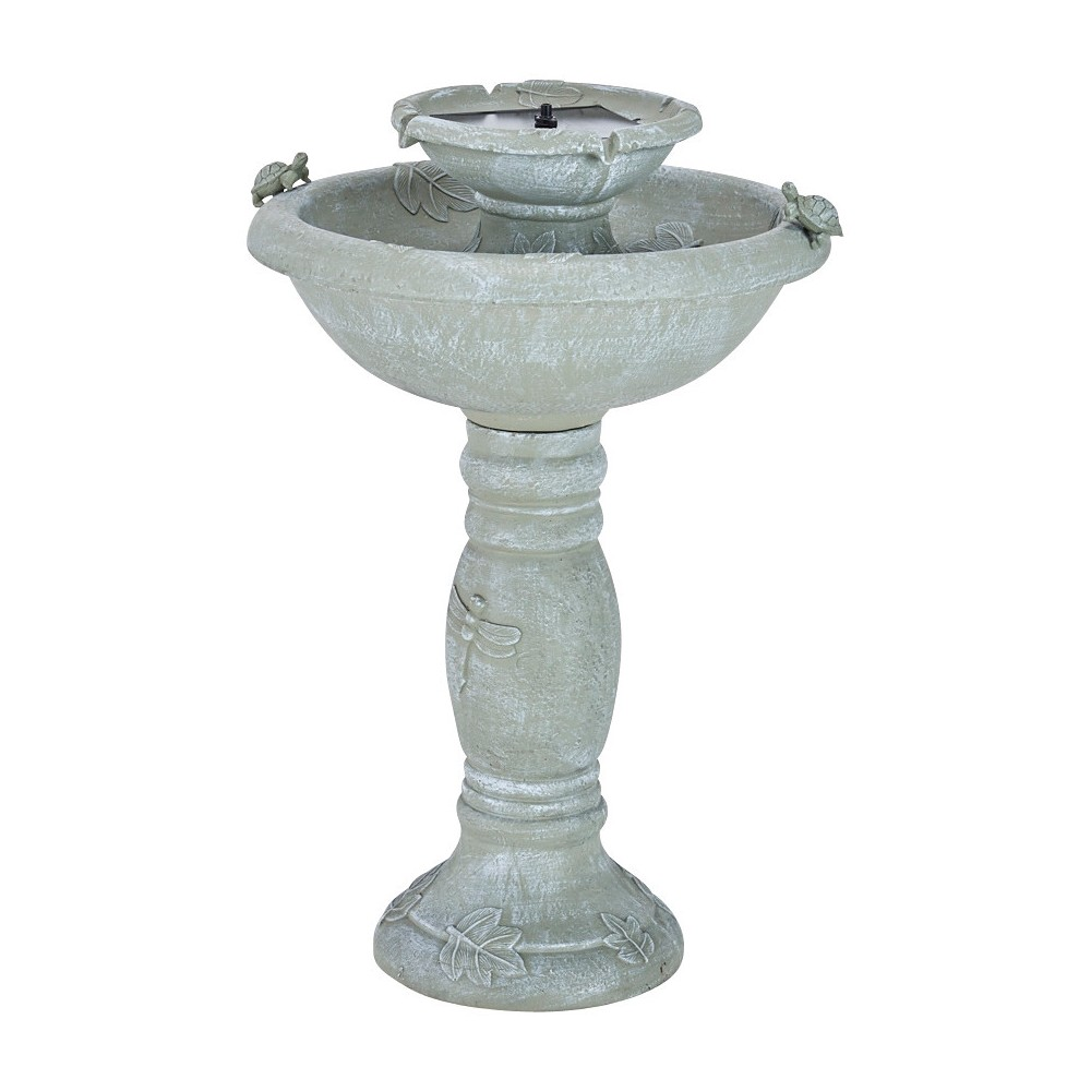 Image of Smart Living 32 Country Gardens 2-Tier Solar Fountain, Gray