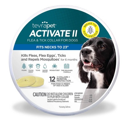 Tevra Pet Activate II Flea and Tick Collar for Dogs - 12 Months - 2ct