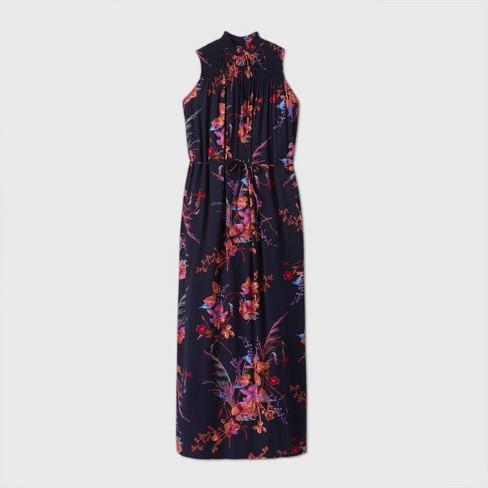 Women's Sleeveless Smocked Trapeze Dress - A New Day™ - image 1 of 2