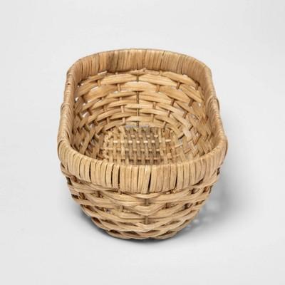 Woven Wicker Bread Basket Khaki - Threshold™