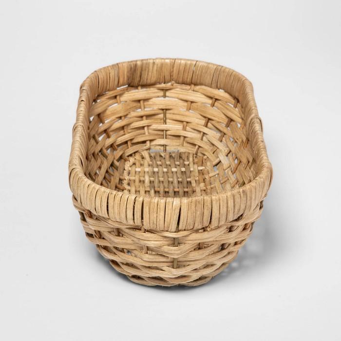 Woven Wicker Bread Basket Khaki - Threshold™ - image 1 of 2