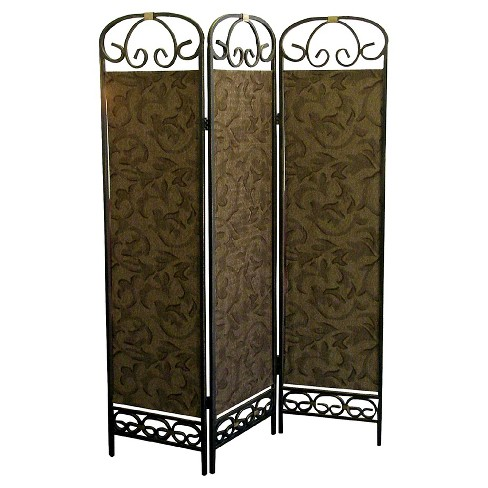 3 Panel Room Divider Antique Gold - Ore International - image 1 of 1