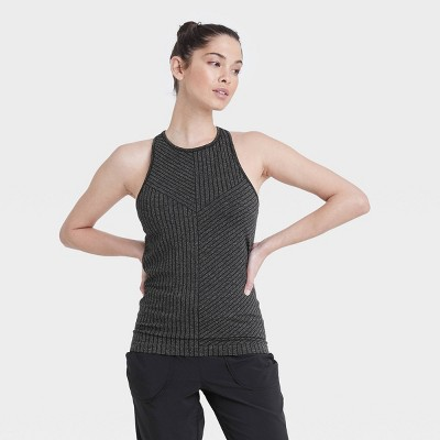 Women's Seamless High Neck Tank Top with Shelf Bra - All in Motion™