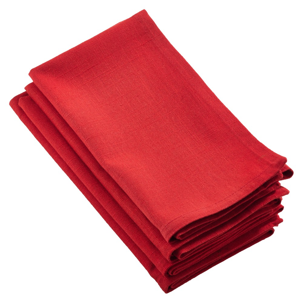 4pk Red Juliana Design Napkin 20 - Saro Lifestyle