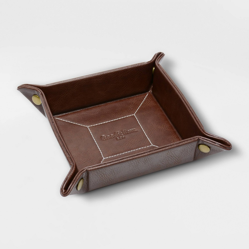 Image of Faux Leather Brown Travel Tray - Goodfellow & Co