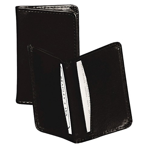 Samsill Regal Leather Business Card Wallet Holds 25 2 X 3 12 Cards