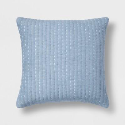 Blue Stitch Pattern Square Throw Pillow - Threshold™