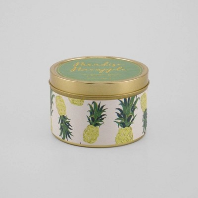 8oz Lidded Tin Candle Paradise Pineapple - Opalhouse™