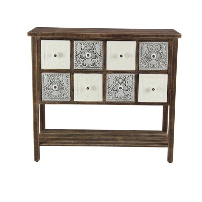 Farmhouse 8 Drawer Cabinet Brown/Gray - Olivia & May