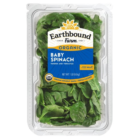 Earthbound Farm Organic Baby Spinach - 1lb - image 1 of 1