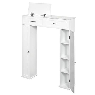 Lift Top Bath Storage Console Cabinet White - Zenna Home