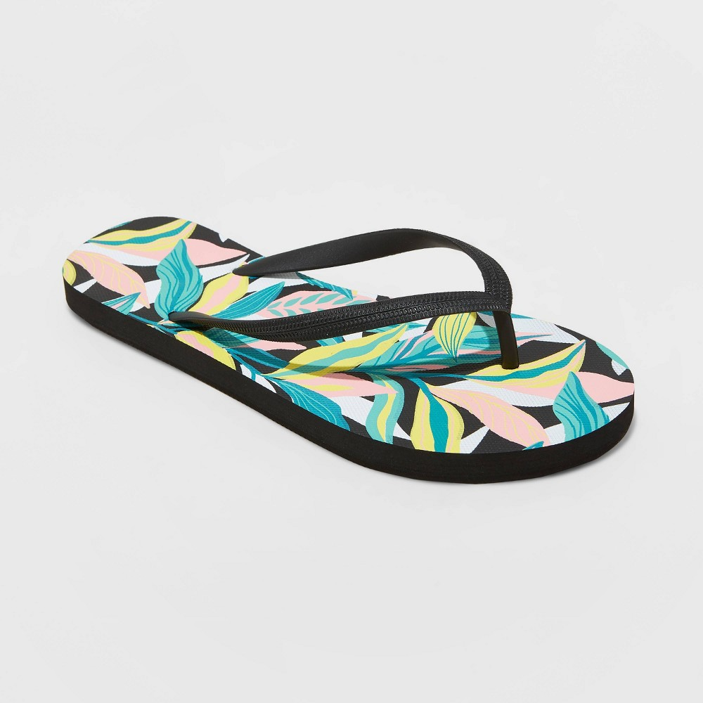 Women 39 S Brynn Flip Flop Sandals Shade 38 Shore 8482 Black Tropical 12
