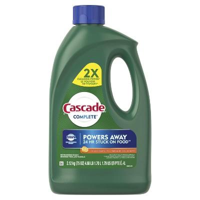 Cascade Complete Dishwasher Detergent Gel - Citrus Breeze Scent - 75oz