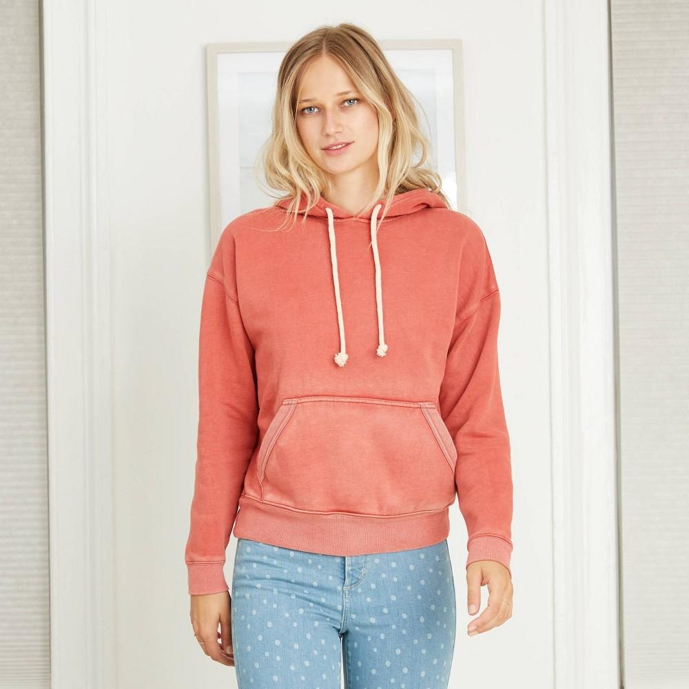 Women 39 S Hooded Fleece Sweatshirt Universal Thread 8482 Red L