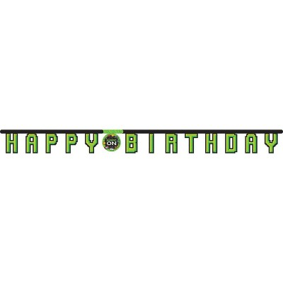 "Video Game ""Happy Birthday"" Party Banner"