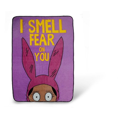Surreal Entertainment Bob S Burgers Louise Throw Blanket I Smell Fear On You 64 X 44 Inches Target