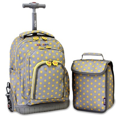"""J World 16"""" Lollipop Rolling Backpack with Lunch Bag"""