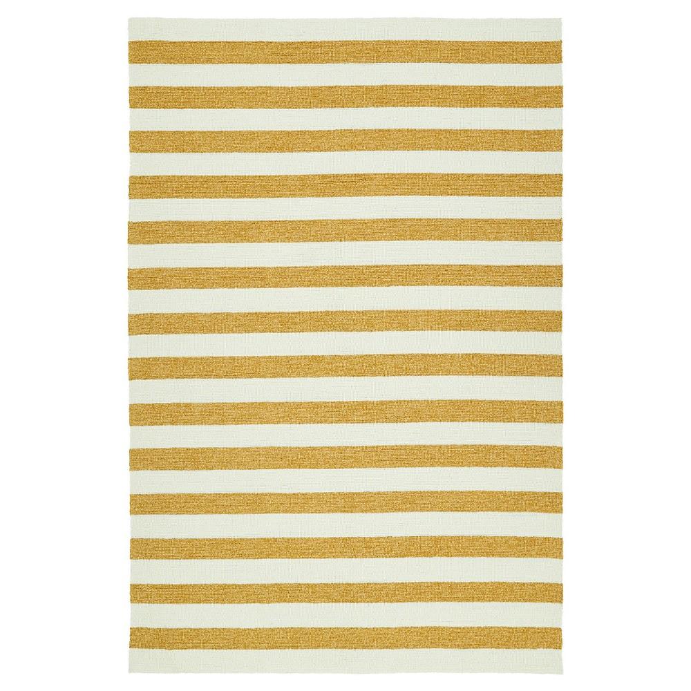 Gold Escape Stripes Indoor/Outdoor Area Rug (8'x10') - Kaleen Rugs