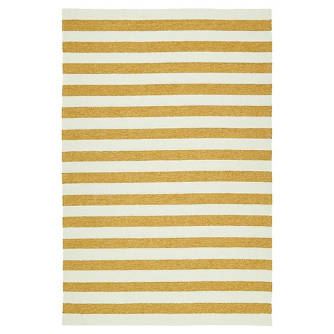 Kaleen Rugs Escape Stripes Indoor/Outdoor Area Rug Gold (2'x3') - image 1 of 3