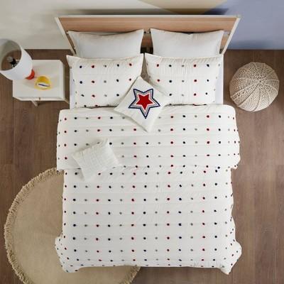 Kelsey Cotton Pom-Pom Coverlet Set