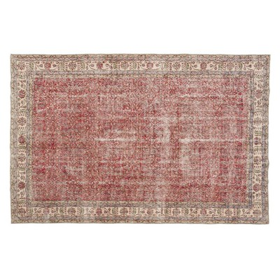 "6'9""x10'2"" Vintage One-of-a-Kind Velia Rug Red - Revival Rugs"