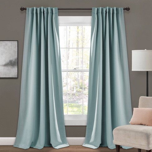 Insulated Back Tab Blackout Window Curtain Panels Set - Lush Décor - image 1 of 5