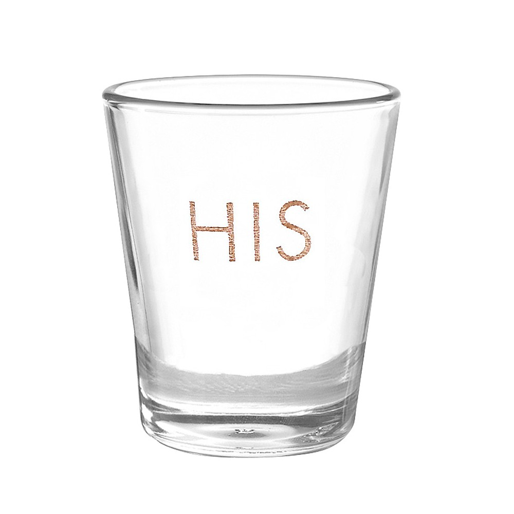 Image of His' Shot Glass Drinkware, Medium Clear