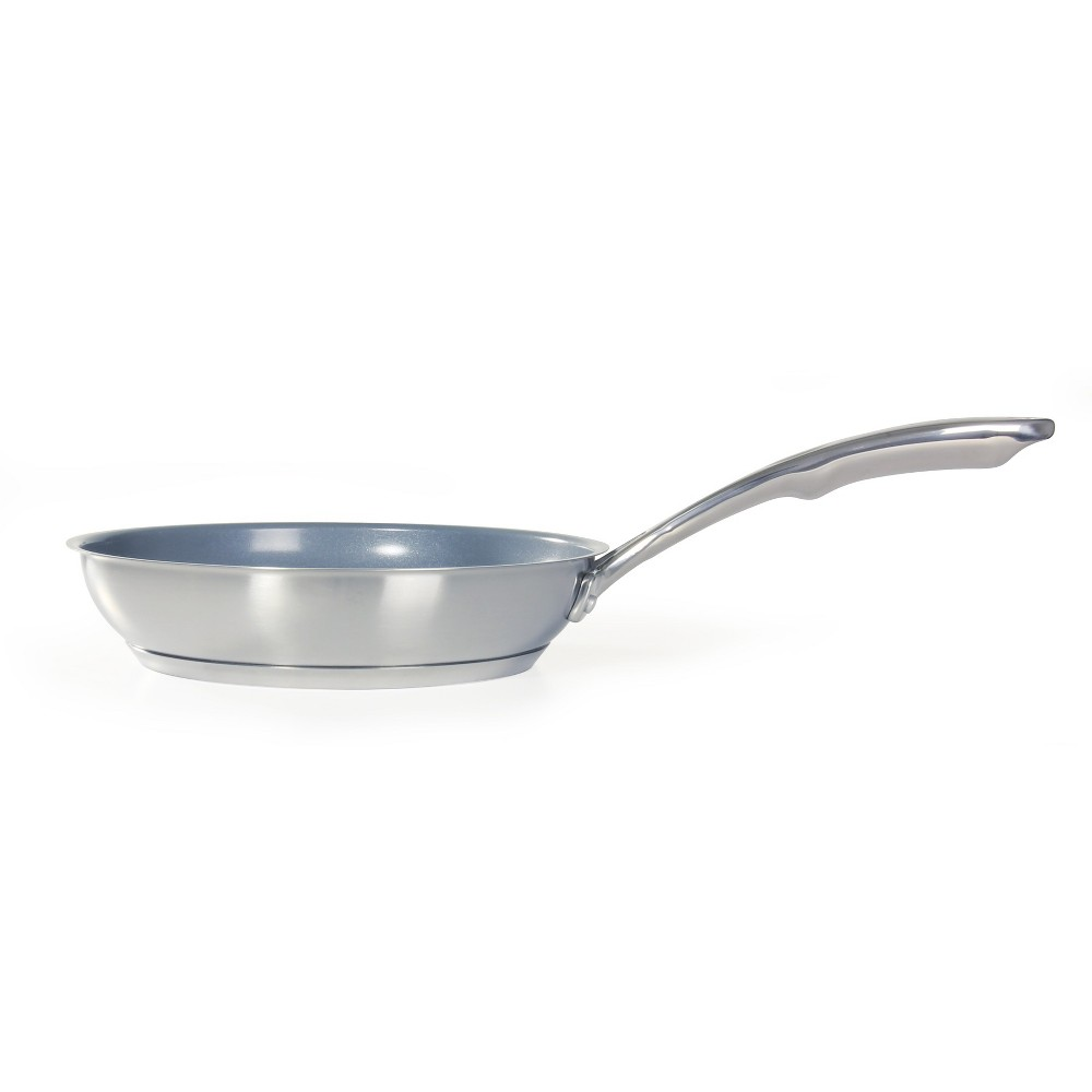 """Image of """"Chantal Induction 21 Steel 10"""""""" Stainless Steel with Ceramic Coating Fry Pan, Silver"""""""