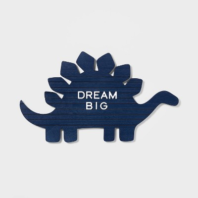 Dinosaur Letter Board Blue - Pillowfort™