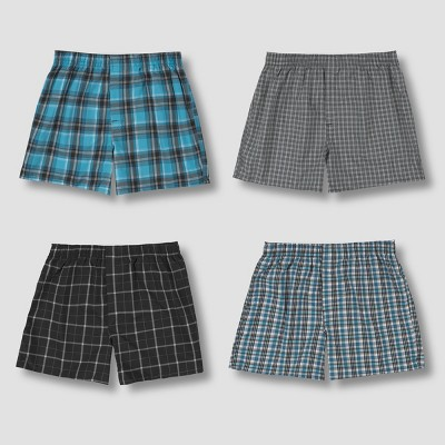 Hanes Premium Men's Stretch Woven Boxer Shorts 4pk