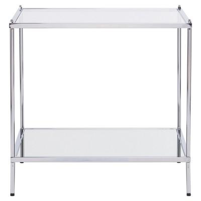 Benton Glam Mirrored End Table - Chrome - Aiden Lane