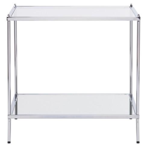 Benton Glam Mirrored End Table - Chrome - Aiden Lane - image 1 of 4