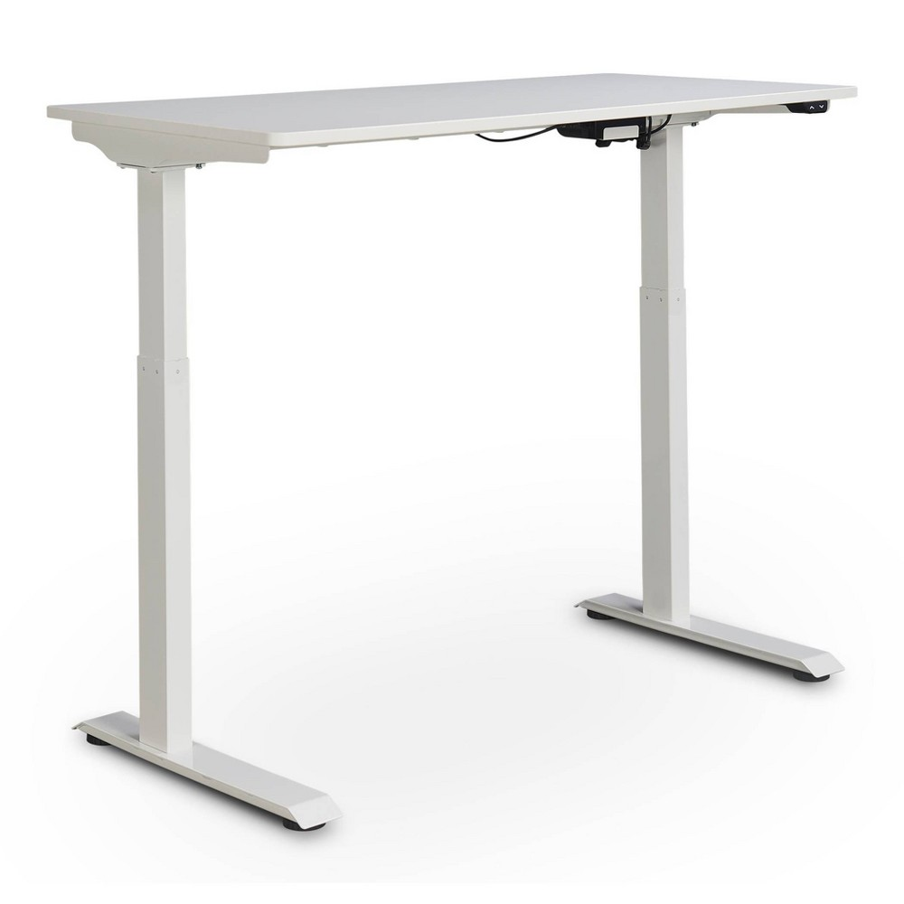 Ergo Electric Height Adjustable Standing Desk White True Seating