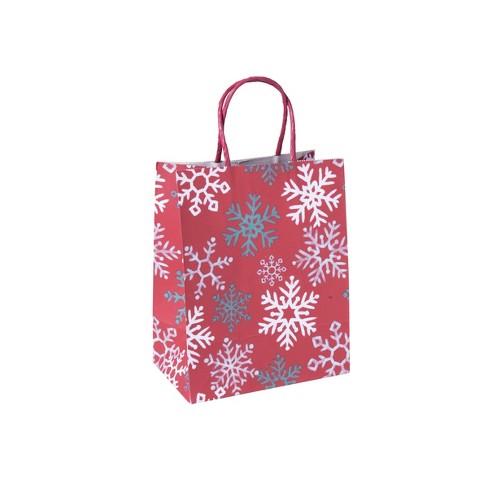 Snowflake Christmas Gift Bag Red - Wondershop™ - image 1 of 1