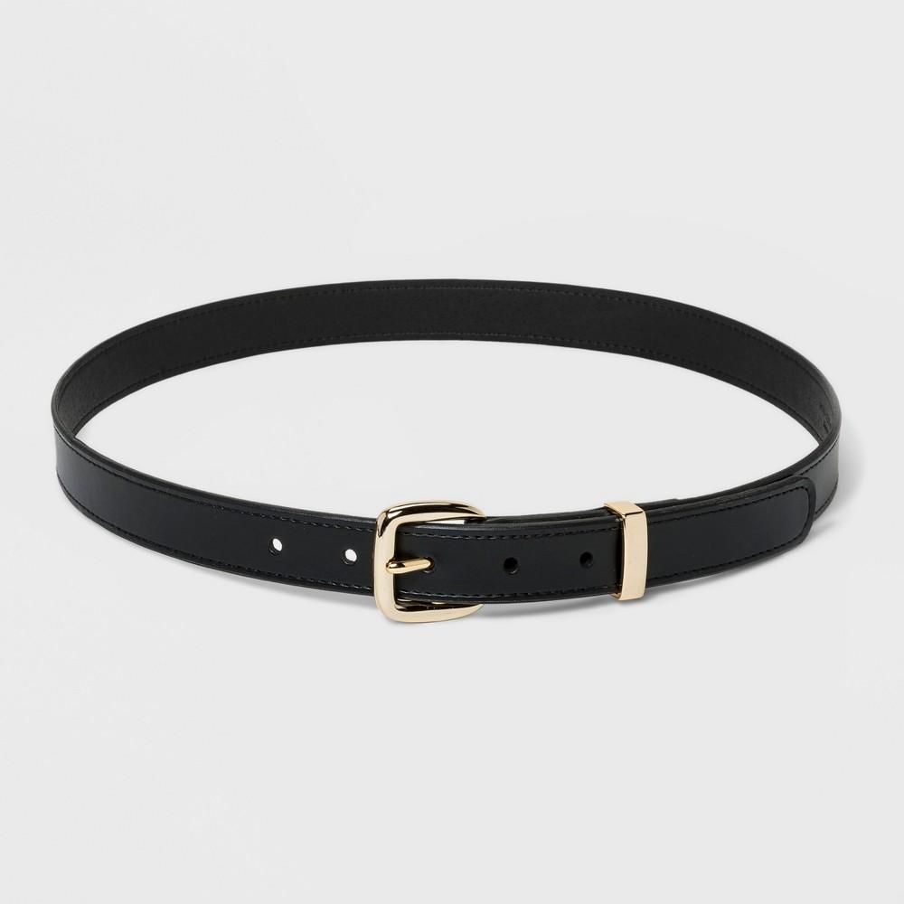 Image of Women's Plus Size Metal Loop Trouser Belt - Ava & Viv Black 1X, Size: 1XL