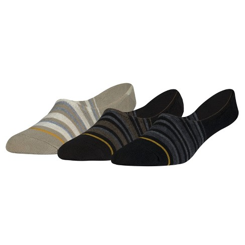 Signature Gold by GOLDTOE® 3pk Stripes No Show Liner Sock - Assorted 6-12 - image 1 of 2