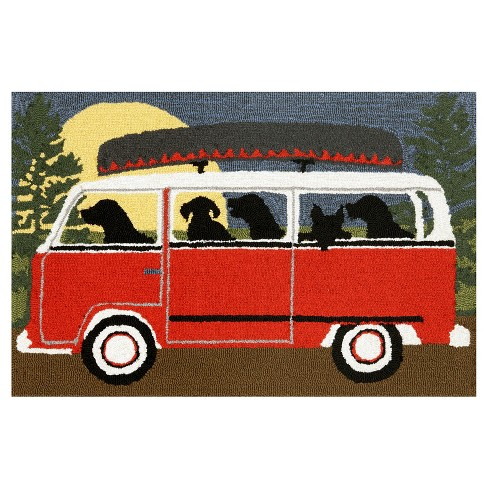 Frontporch Camping Trip Red Rug - Liora Manne - image 1 of 1