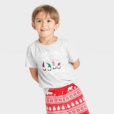Toddler Holiday Gnome Matching Family Pajama T-Shirt - Wondershop™ Gray