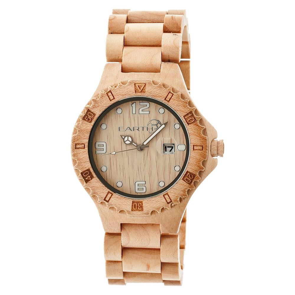 Image of EARTH Men's Wristwatch Khaki, Size: Small, Beige