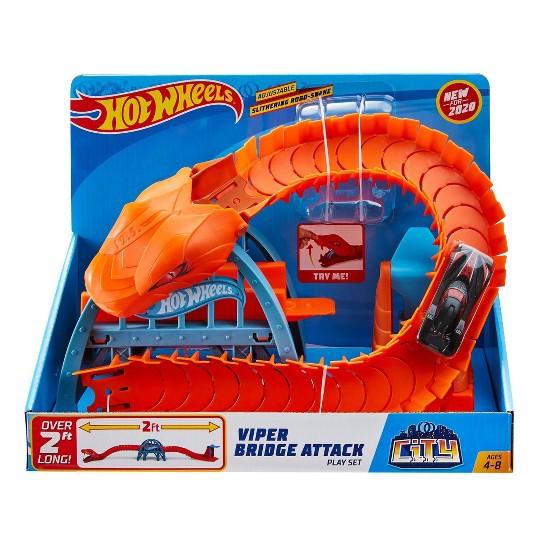 Hot Wheels City Viper Bridge Attack Playset image number null