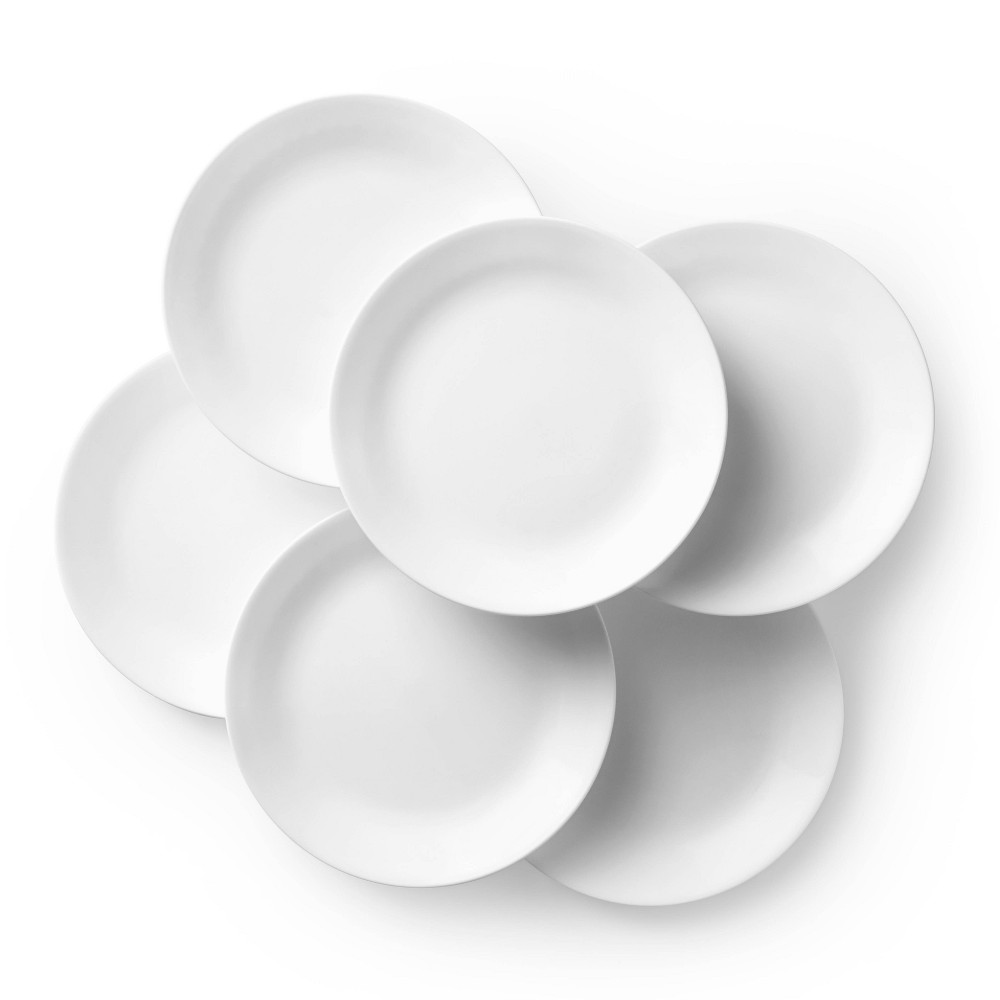 """Image of """"Corelle 10.3"""""""" 6pk Glass Dinner Plates White"""""""