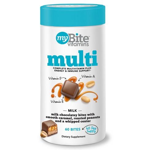 MyBite Multivitamin Chewables - Milk Chocolatey Peanut - 60ct - image 1 of 5